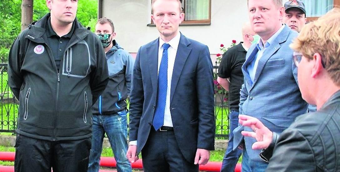 Wojewoda łódzki Tobiasz Bocheński osobiście oglądał zalane Bobrowniki