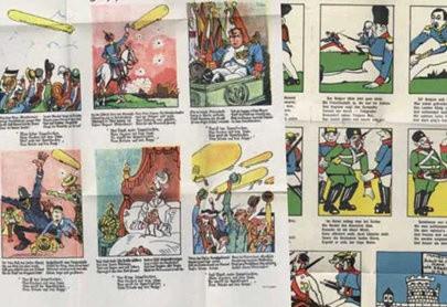 Jednostronicowe kolorowe rysunki zachowały się w bardzo dobrym stanie.