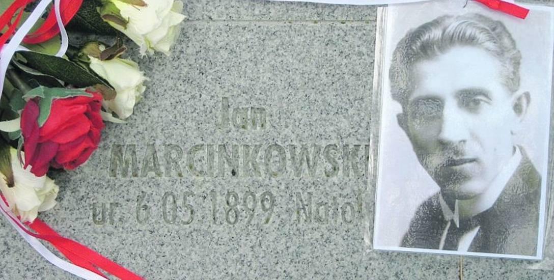 Tablica epitafijna Jana Marcinkowskiego na Polskim Cmentarzu Wojennym w Kijowie-Bykowni.