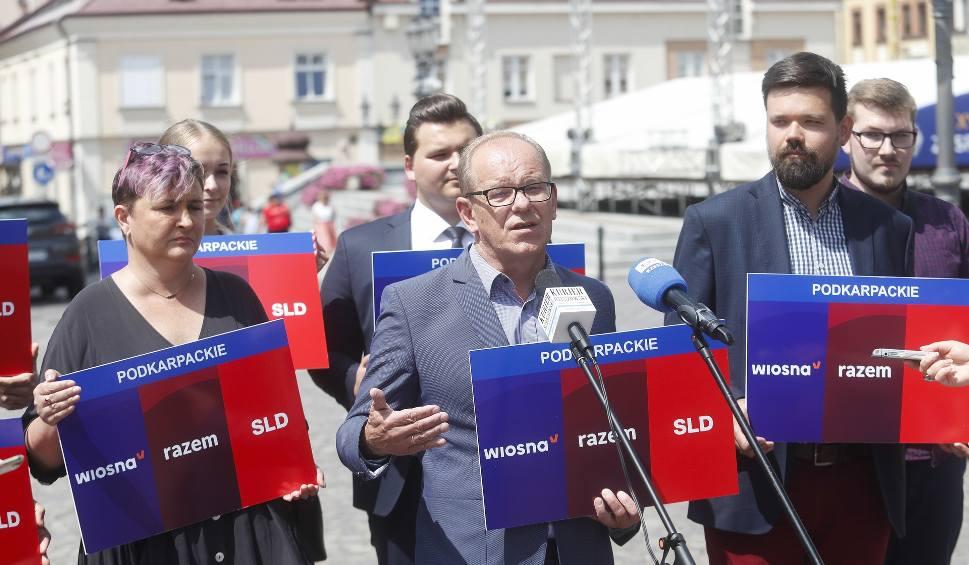 Film do artykułu: Lewica na konferencji w Rzeszowie. Nowa koalicja - SLD, Lewica Razem i Wiosna Biedronia łączą siły