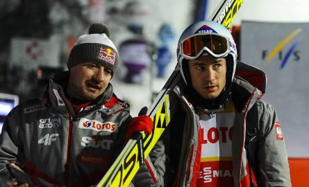 Adam Małysz (z lewej) i Kamil Stoch