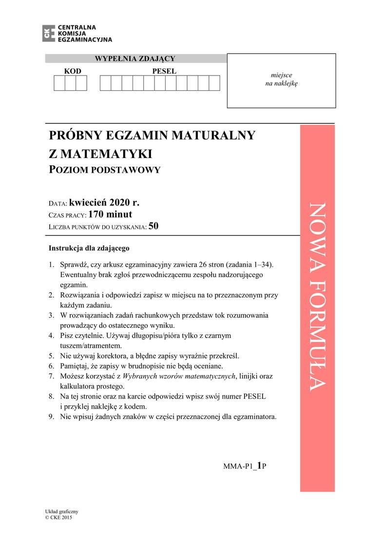 matura próbna 2011 matematyka odpowiedzi