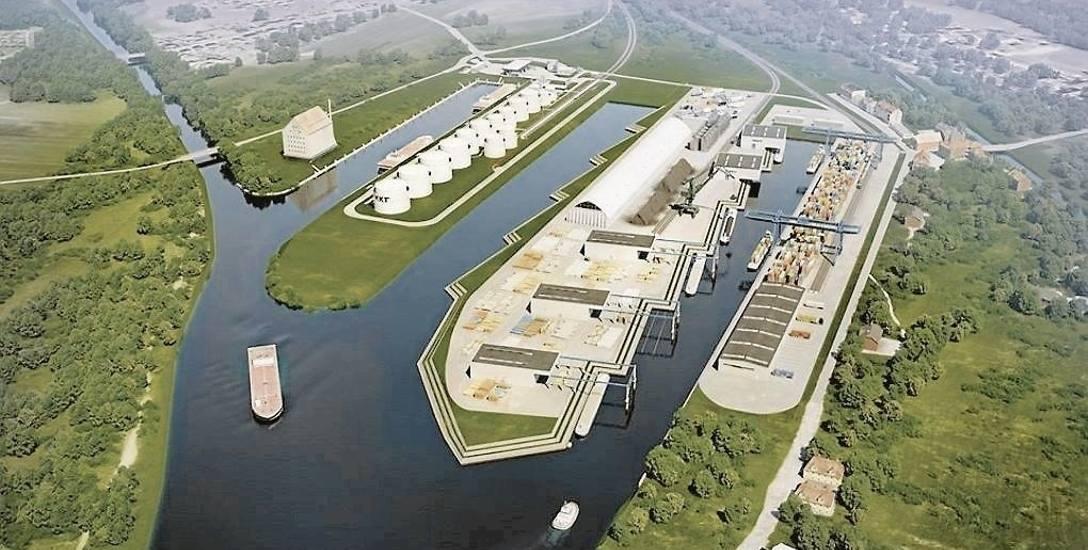 Wizualizacja kozielskiego portu po rozbudowie.