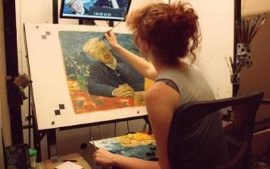"""""""Twój Vincent"""". Piotrkowianka malowała sceny do filmu nominowanego do Oskara [ZDJĘCIA]"""