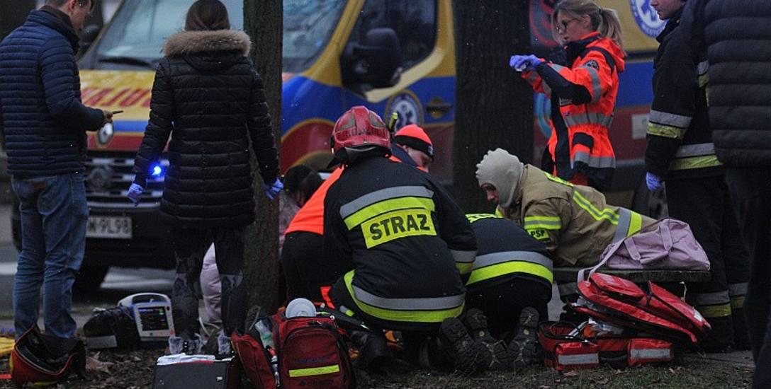 Kobieta zmarła przy ul. Orła Białego w Kostrzynie nad Odrą.