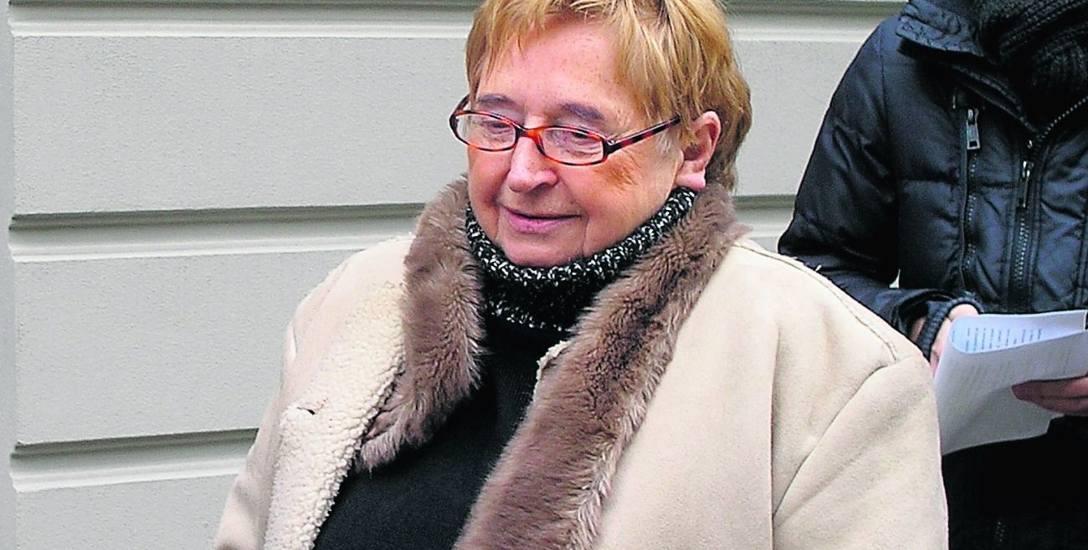 Czesława Chojnacka jest oburzona, że UMŁ wystawił jej dawny lokal na przetarg.