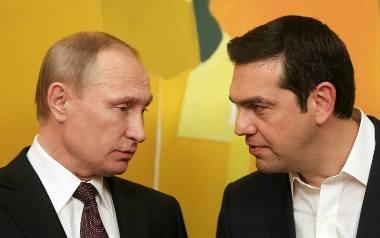 Od lewej: prezydent Rosji Vladimir Putin i premier Grecji Alexis Tsipras. 27.05.2016