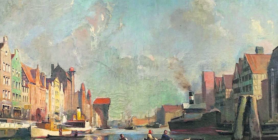 """Bruno Paetsch (1891 - 1976), """"Długie Pobrzeże"""", olej, płótno"""