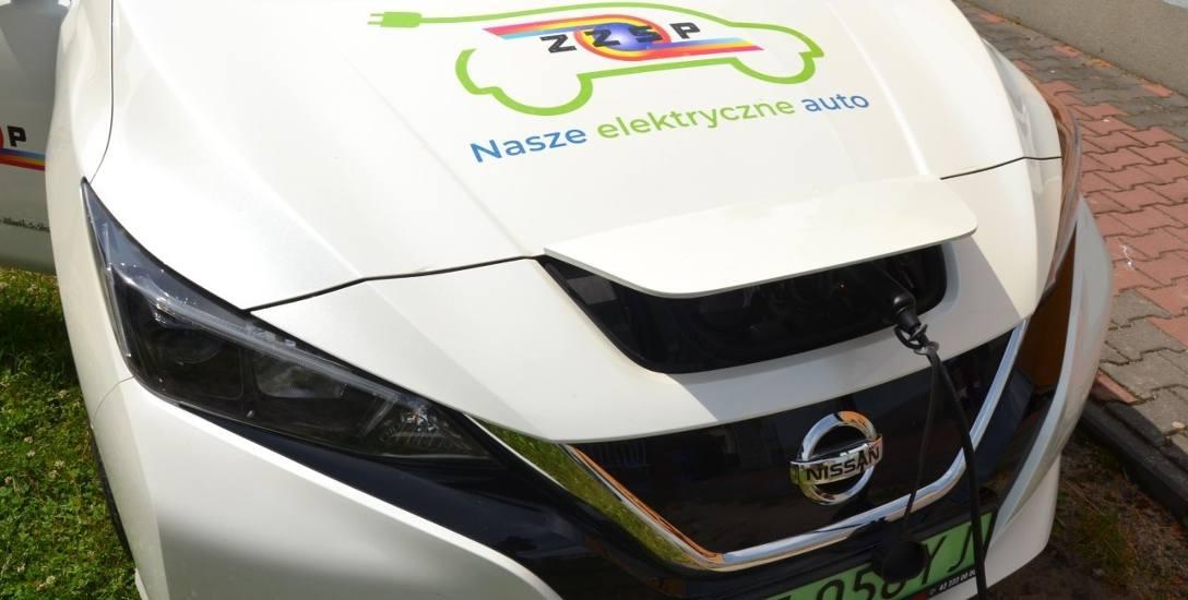 Elektyczny Nissan Leaf będzie pomocą naukową w zgierskiej szkole