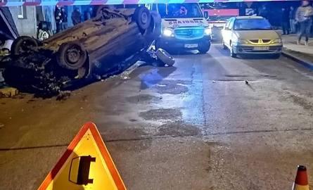 Wypadek w Borku Strzelińskim na drodze Wrocław - Strzelin - 18.01.2019