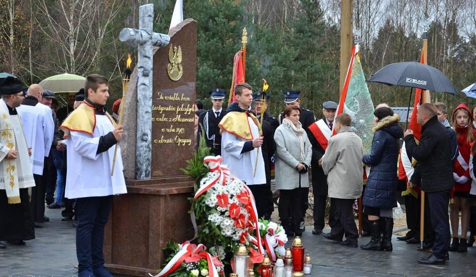 Film do artykułu: W gminie Jeżowe odsłonili pomnik pamięci partyzantów, którzy zginęli na terenie Grobel