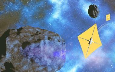 ABM Space proponuje, by słoneczny żagiel, wykorzystywany do napędu statków kosmicznych, był wykonywany w kosmosie z pozyskiwanych tam metali