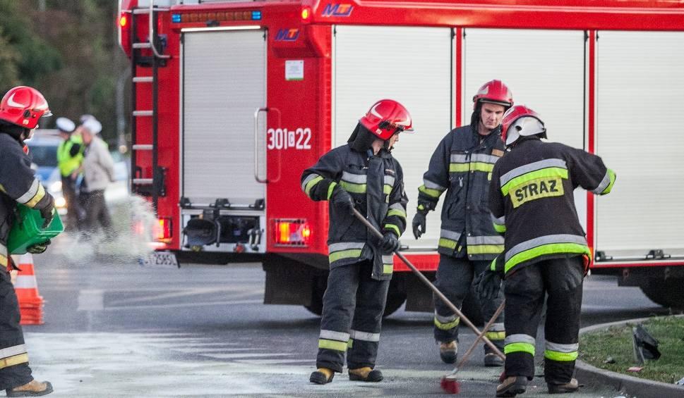Film do artykułu: Wypadek na DK10 w Makowiskach. Uwaga, ruch wahadłowy