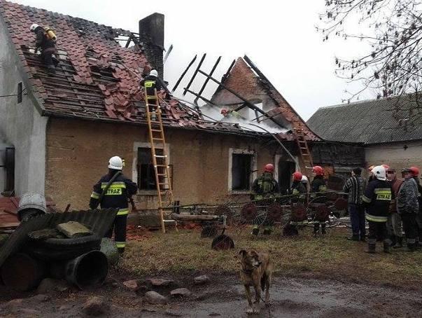 Jedna osoba zginęła w pożarze domu.