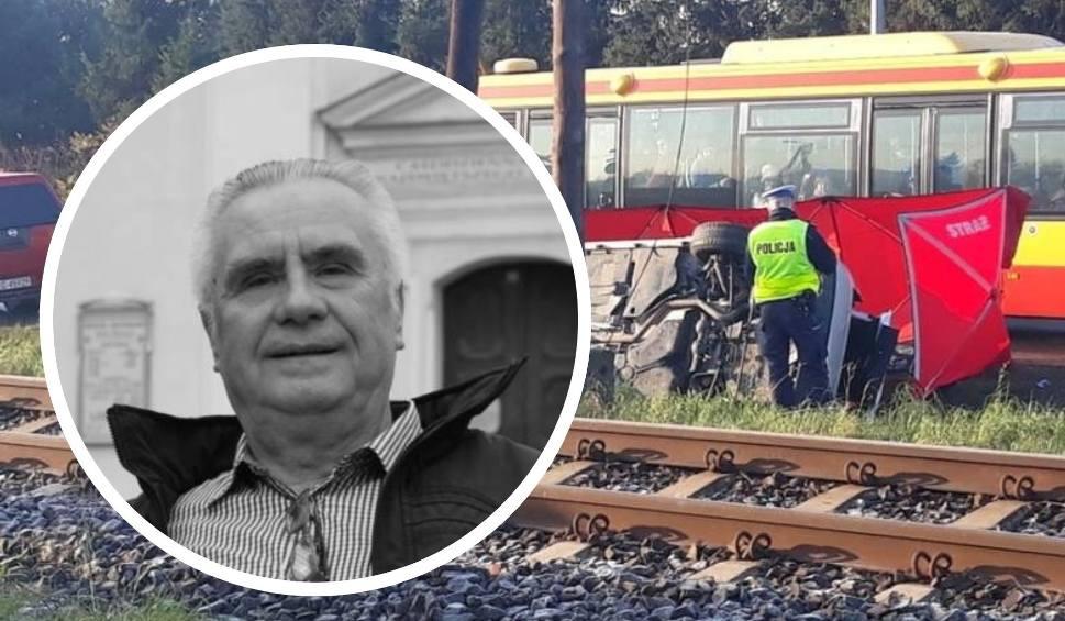 Film do artykułu: Janusz Dzięcioł zginął w wypadku samochodowym na przejeździe kolejowym pod Grudziądzem [zdjęcia]