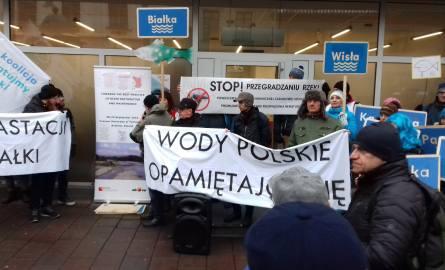 Kraków. Protest przeciwko regulacji rzeki Białki