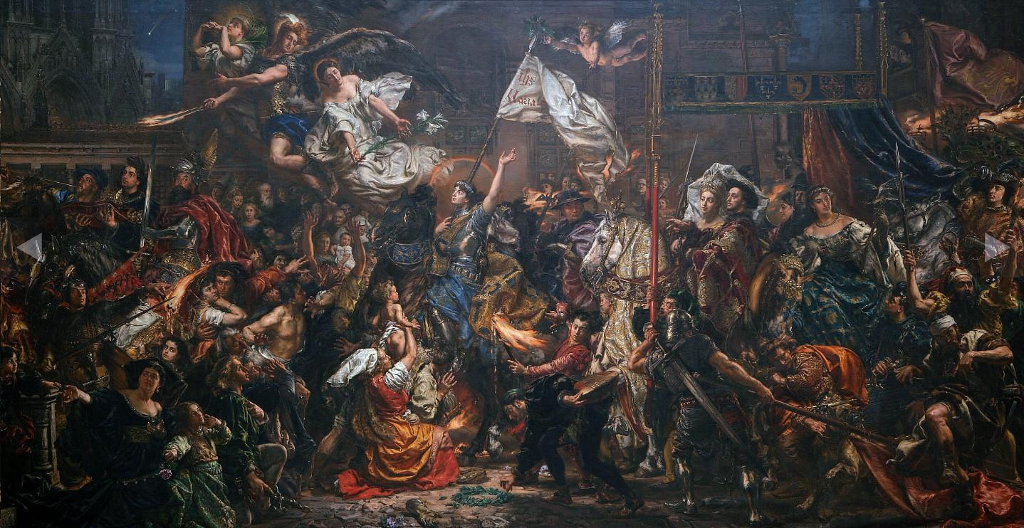 Wjazd Joanny d'Arc do Reims w 1429 roku, obraz Jana Matejki