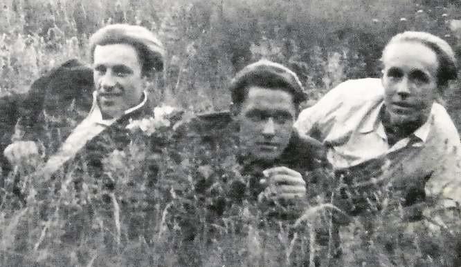 Od lewej: Sergiusz Jackowski, kolega Hryhorowicz i Bolesław Jackowski. Sielankowo