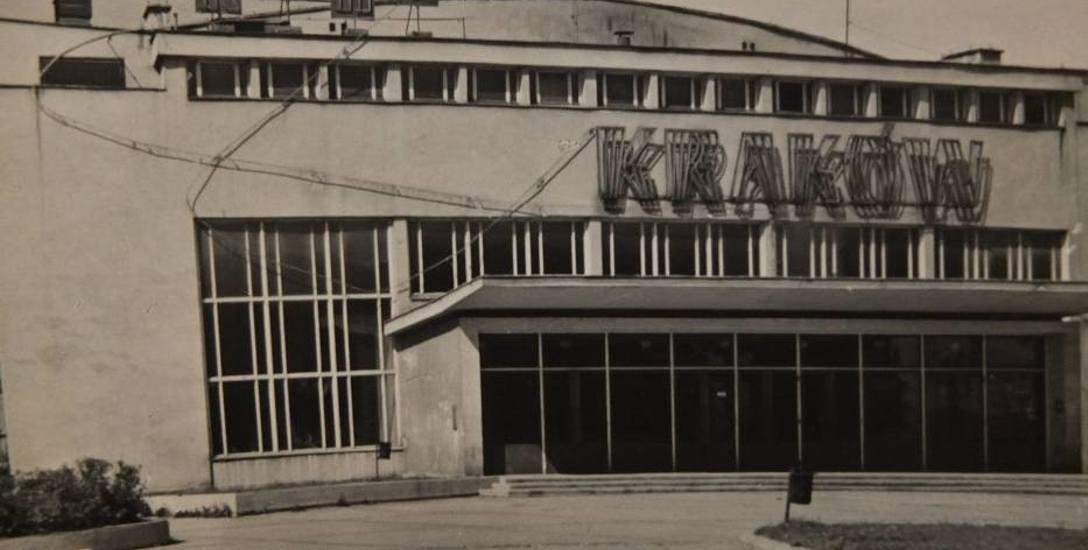 """Kino """"Kraków"""" na ulicy Katowickiej. Dziś w tym miejscu stoi budynek handlowo-usługowy."""