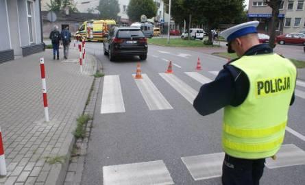 BMW potrąciło pieszego w Kaliszu. Kierował 71-latek [ZDJĘCIA]