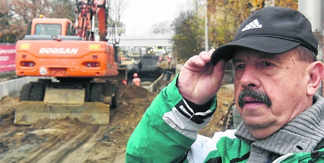 Wacław Butrym z Zielonej Góry nie może już doczekać się końca ciągnącej się w czasie inwestycji