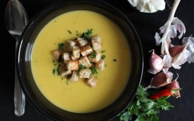 Aromatyczna zupa czosnkowa.