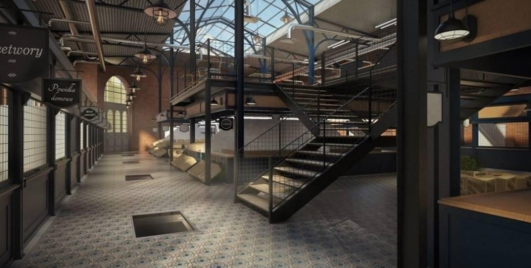 To jedna z wizji zagospodarowania wnętrza hali targowej przy ul. Magdzińskiego w Bydgoszczy. Czy tak będzie wyglądało rzeczywiście?