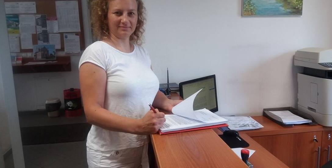 Monika Bereta była jedną z osób, które złożyły w urzędzie w Margoninie pismo z podpisami przeciwko inwestycji