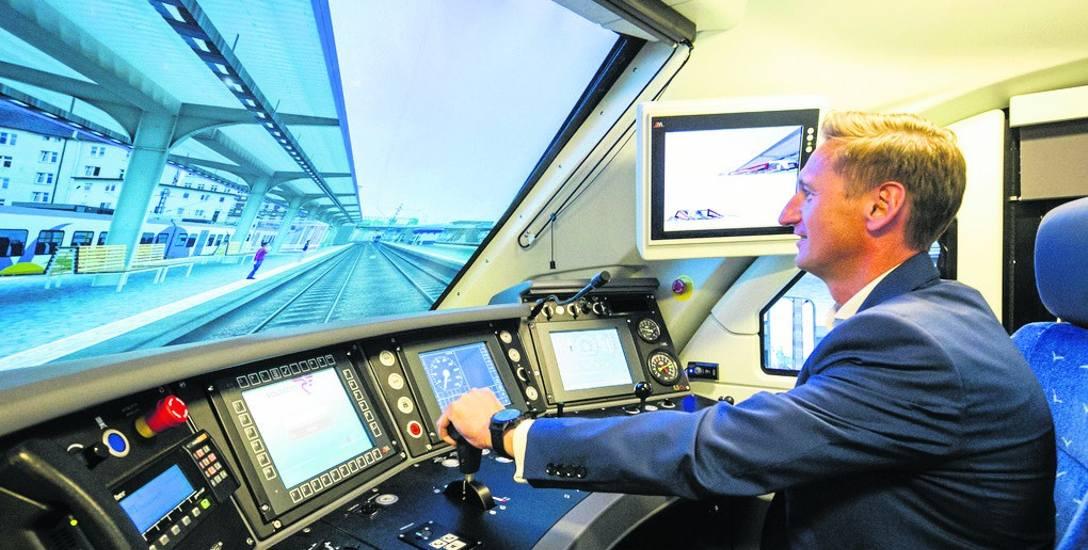 To najnowocześniejszy w Polsce symulator kolejowy.  Posłuży nauce maszynistów
