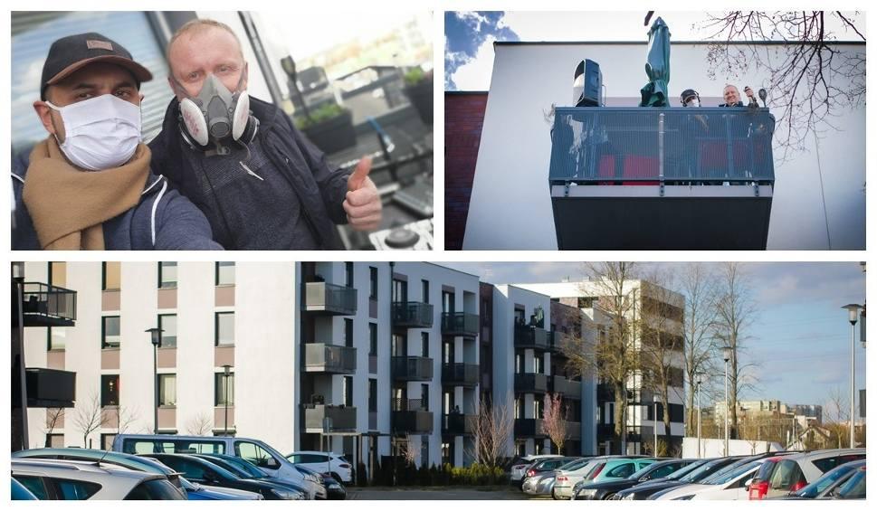 Film do artykułu:  Impreza na balkonie na osiedlu Nowa Cukrownia w Szczecinie. Zobacz wideo i zdjęcia