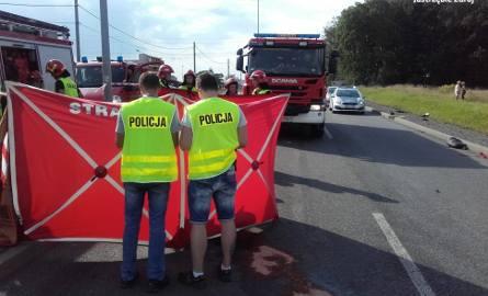 Śmiertelny wypadek motocyklisty w Jastrzębiu-Zdroju ZDJĘCIA