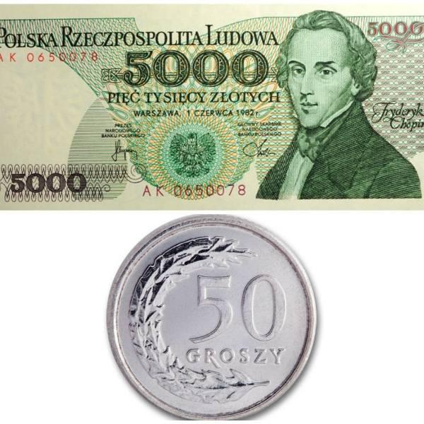 Na początku 1995 roku w Polsce dokonano denominacji. Złotówka straciła cztery zera. Po tej operacji 1 nowy złoty odpowiadał 10 000 starych złotych. Pamiętacie