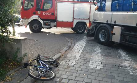 Wypadek koło Sky Tower