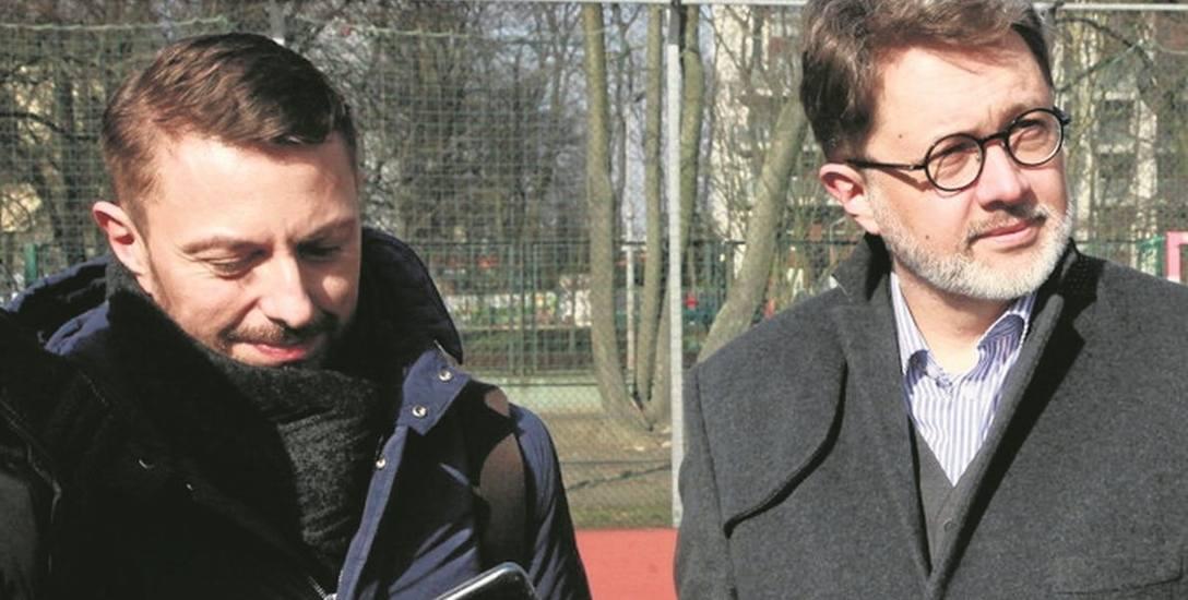 Od lewej Rafał Zarębski i Michał Rusinek