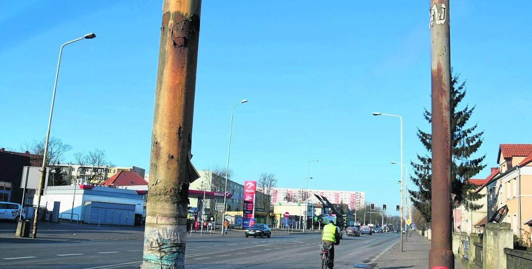 W najgorszym stanie jest oświetlenie ulicy Szczecińskiej. Będzie je modernizować Enea. Na razie jednak nie wiadomo kiedy