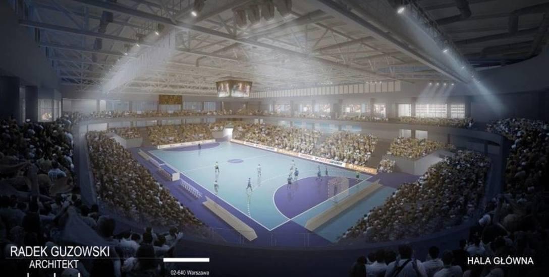 Wizualizacja projektu nowej hali sportowej w Mielcu.