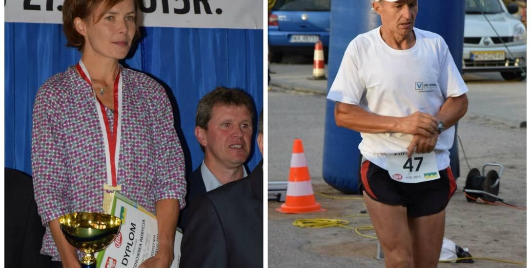 Patrycja Bereznowska - najlepsza dziś na świecie specjalistka od biegów ultradługich i Waldemar Pędzich - wciąż czynny zawodnik i organizator mistrzostw