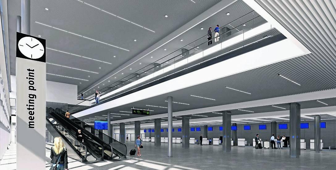 Wizualizacja. Tak terminal B na lotnisku ma wyglądać po przebudowie