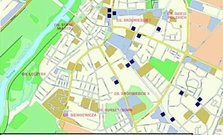 W miejscach zaznaczonych kwadracikami staną nowe przystanki MZK