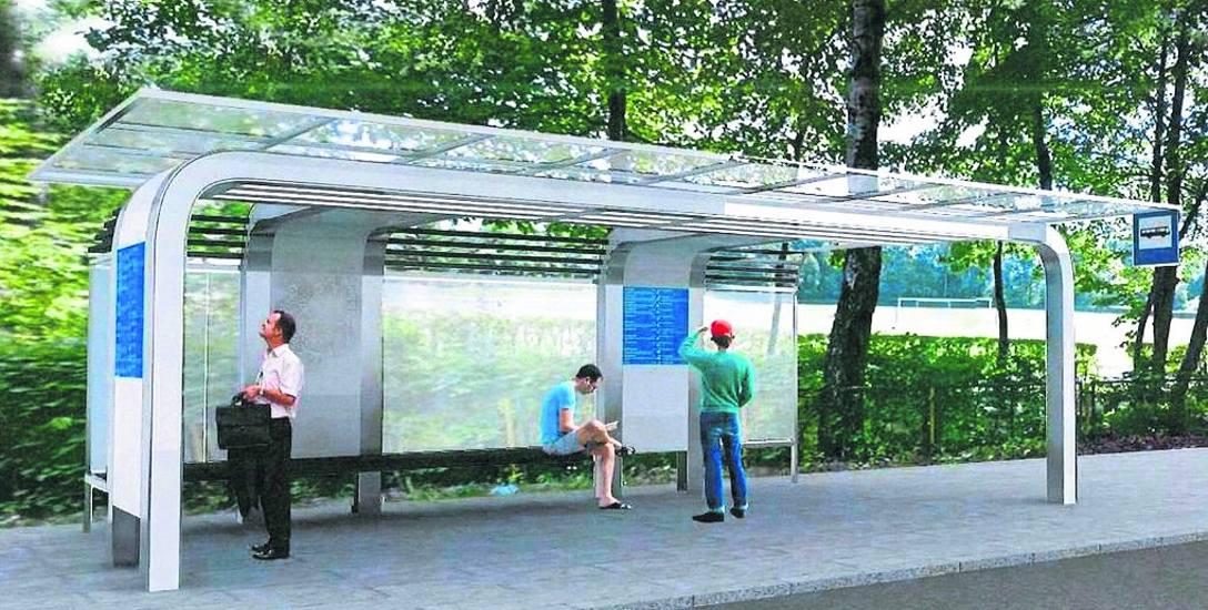 Wizualizacja przystanku autobusowego - mniej więcej tak sobie wyobraża szczecinecki ratusz nowe wiaty przystankowe