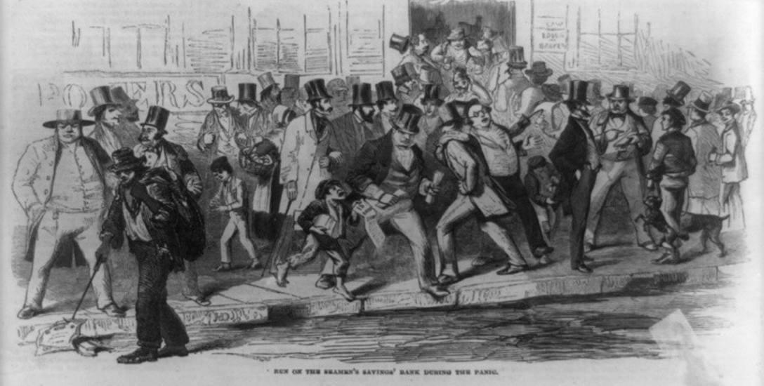 """""""Panika"""" w Nowym Jorku na XIX-wiecznej rycinie"""