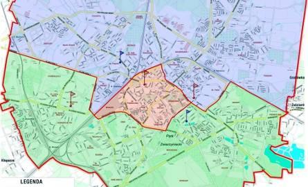 Białostockie komisariaty i podział miasta ze względu na obszar ich działania