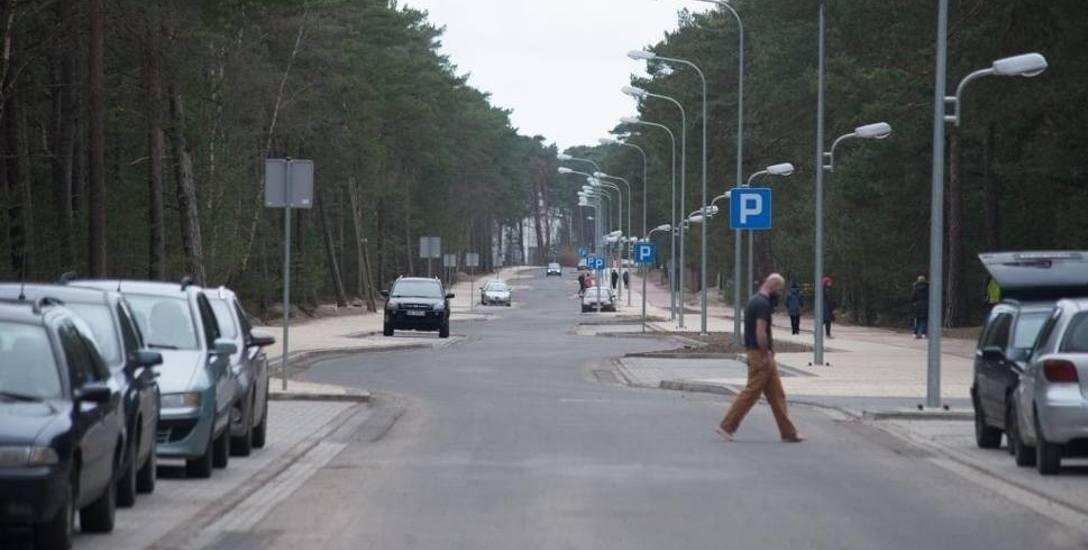 Ulica Wczasowa w Ustce.