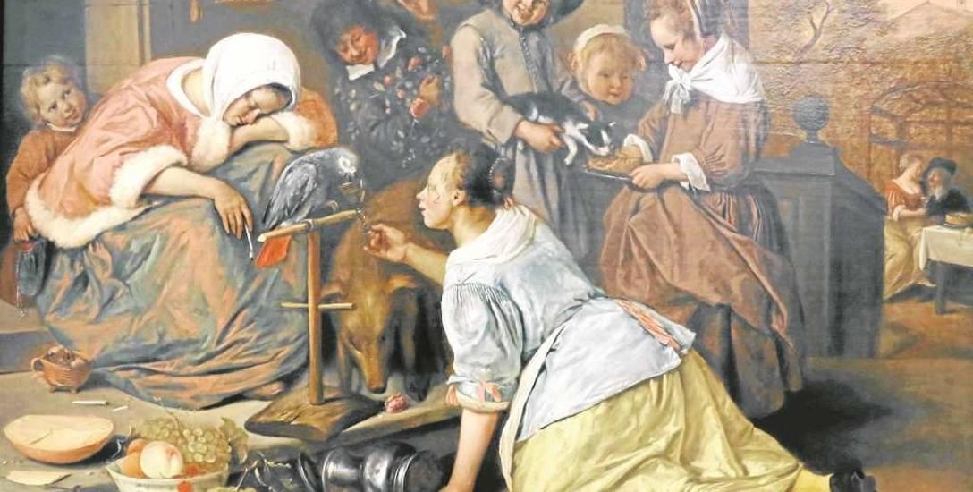 """Jak wyglądał babski comber, możemy się tylko domyślać. Może tak, jak na obrazie Jana Steena """"Skutki pijaństwa""""?"""