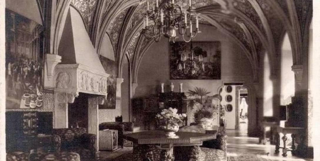 Sala Krzywa w Zamku Książ przed wojną