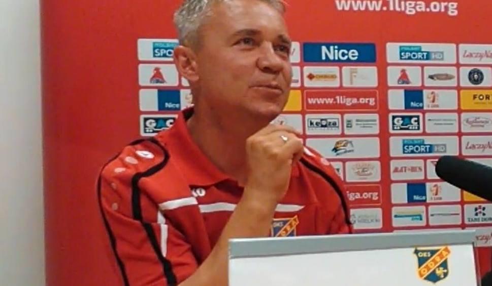 Film do artykułu: Trener Odry po meczu z Puszczą: Cieszę się, że zdobyłem punkt