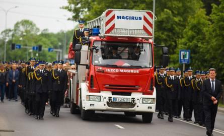 Przemysław Piotrowski i Marek Giro zostali pochowani według strażackiego ceremoniału. Zginęli podczas gaszenia pożaru na Dojlidach