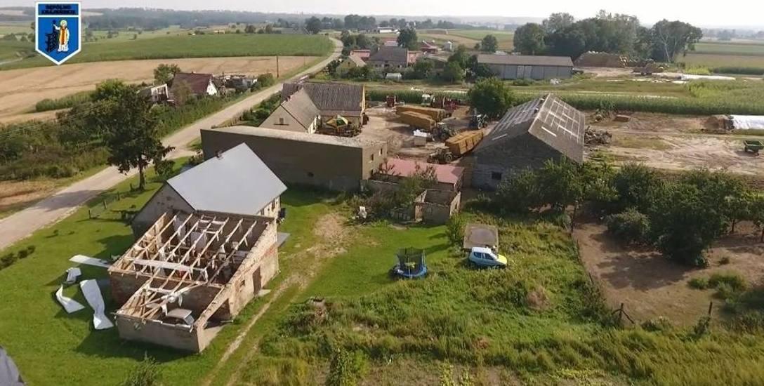 Krajobraz po nawałnicach z sierpnia 2017 roku w powiecie sępoleńskim