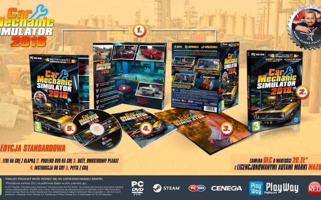 Car Mechanic Simulator 2018: Warsztat w dwóch edycjach