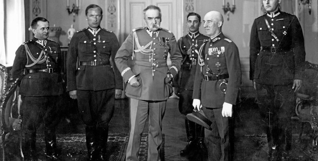 Niemiecki attache wojskowy Max Schindler na audiencji u marszałka Piłsudskiego, 8 maja 1933 r.